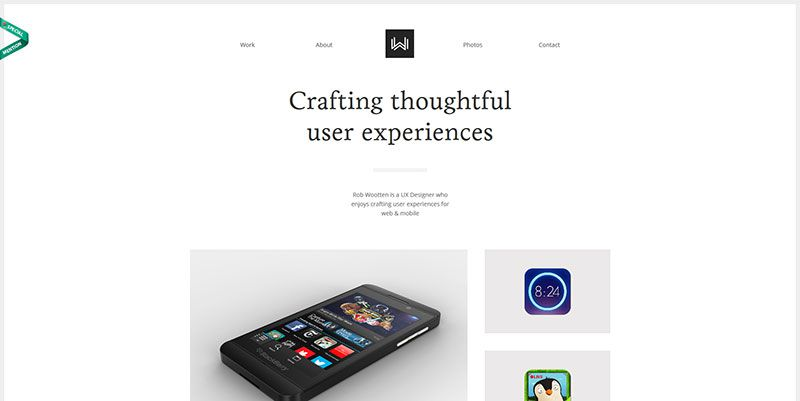 Rob Wootten ultra minimal web design