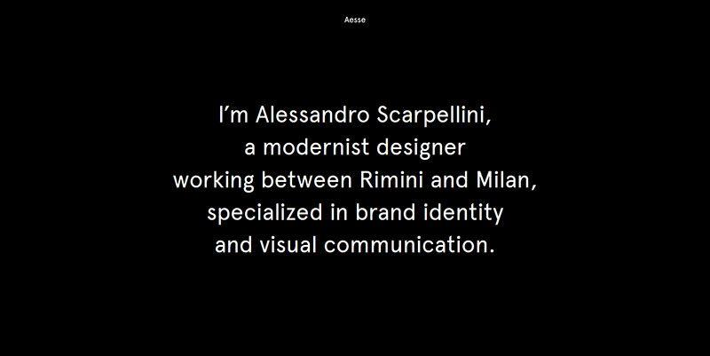 Alessandro Scarpellini ultra minimal web design