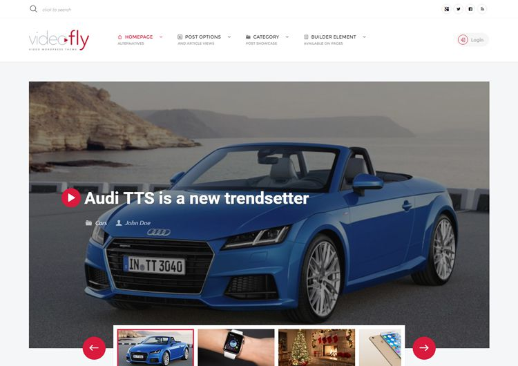 Videofly video wordpress theme