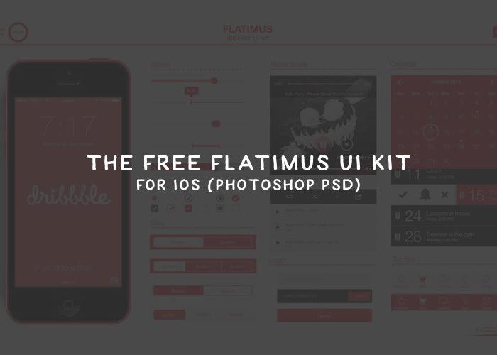 The Free Flatimus UI Kit for iOS (Photoshop PSD)