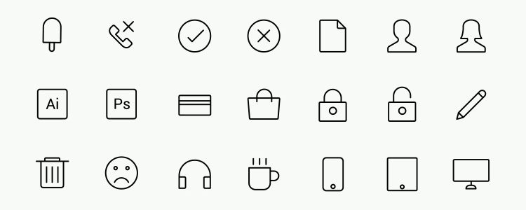 Web Design Icons Illustrator