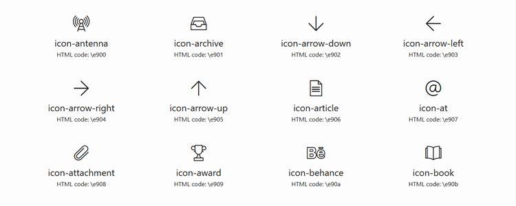 Gonzocons 2.0 icon font