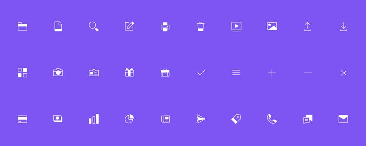 90 Free Line Solid Icons