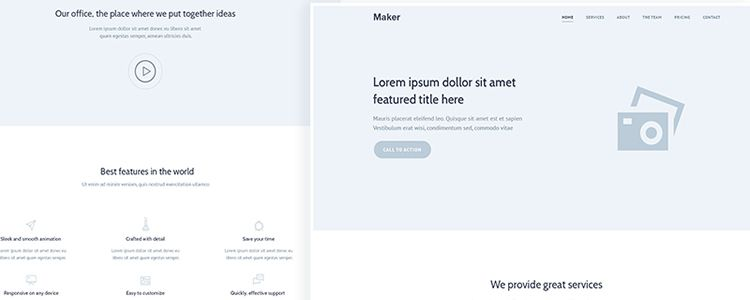 Wireframe Landing Page Template