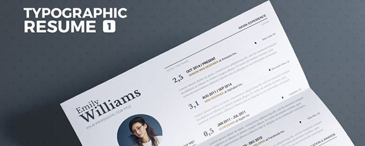 Typographic Resume Tempalate InDesign Word