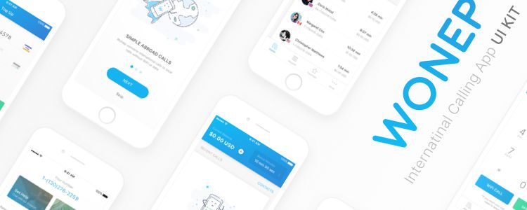 Wonep International Calling App UI Kit
