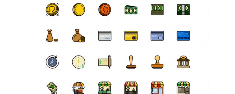 170 Retro Business Icons