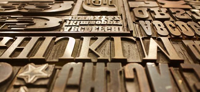 words printing