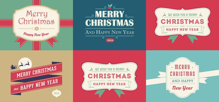 5 christmas and new year cards free holidays - Free Photo Christmas Card Templates