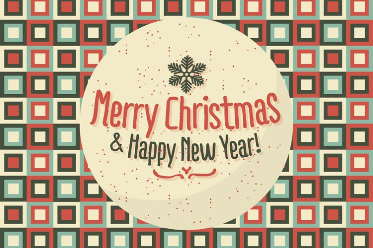 Merry Christmas Happy New Year Background Illustration free holidays