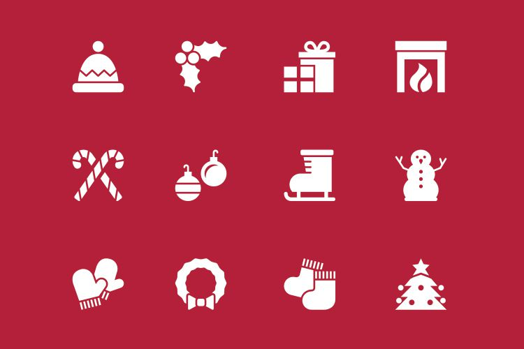 12 Vector Holiday Icons free holidays