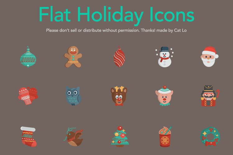 16 Vector Christmas Icons free holidays