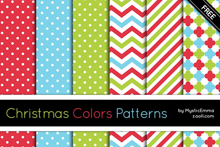 20 Christmas Colors Patterns for Photoshop free holidays