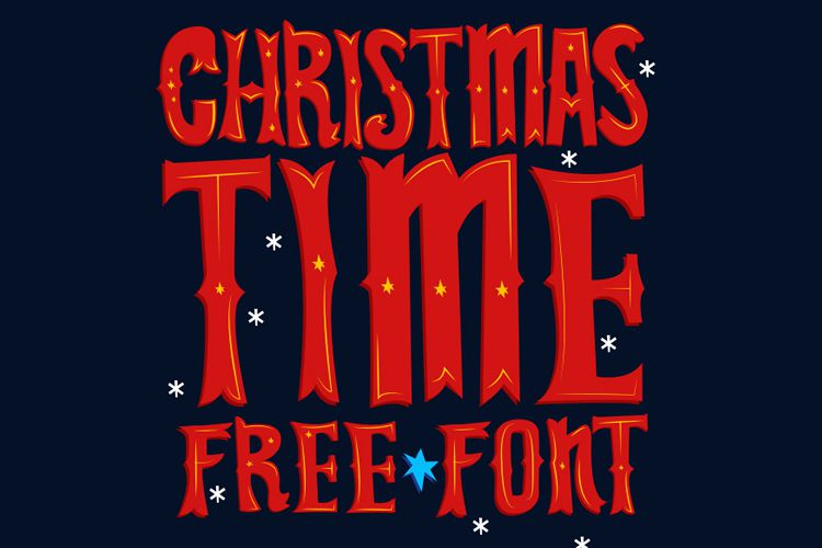 Christmas Time Free Font free holidays