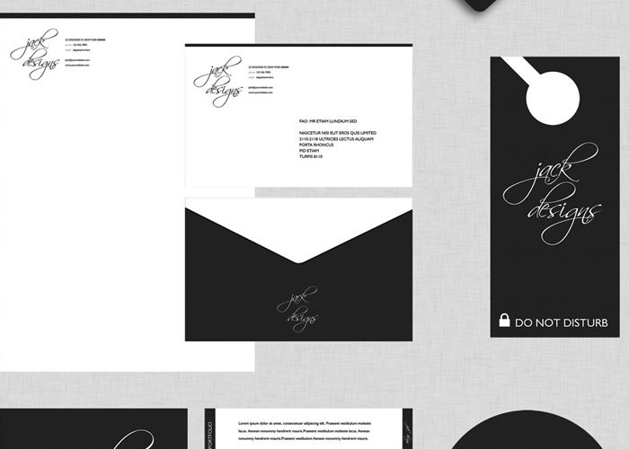 Jack Designs – A Free Photoshop Corporate Identity Package