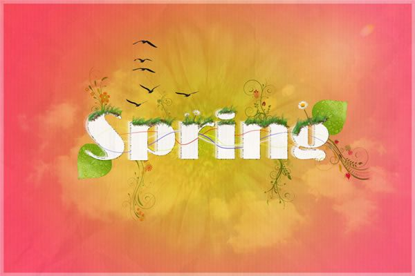 Photoshop Poster Design Celebrate the Passing of Spring