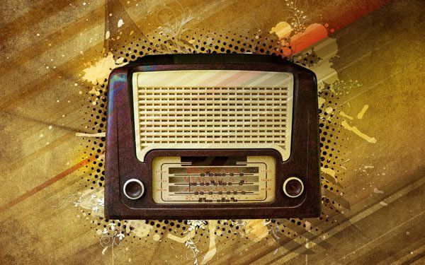 Photoshop Vintage Radio Poster Design