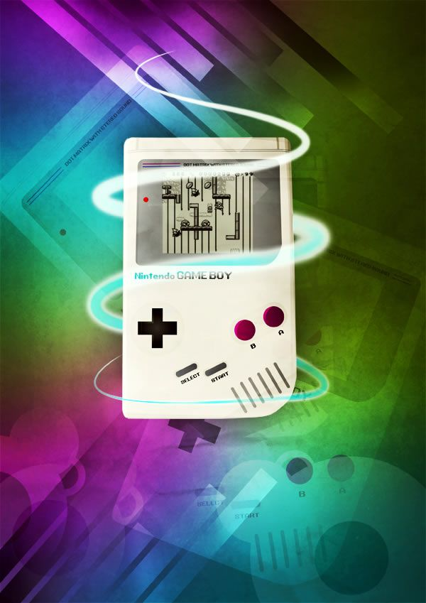 Photoshop Retro Game Boy Poster Design