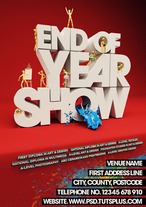 Event Poster with C4D and Photoshop Design