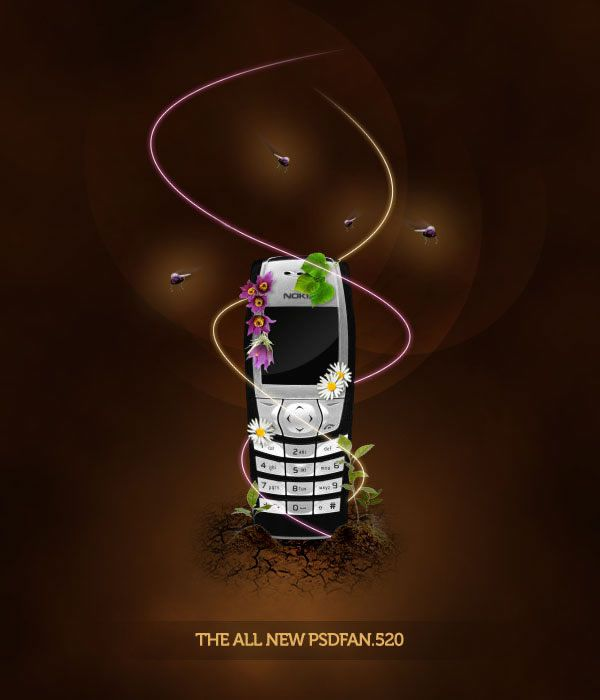 Photoshop Sleek Nature Themed Phone Advert Poster Design