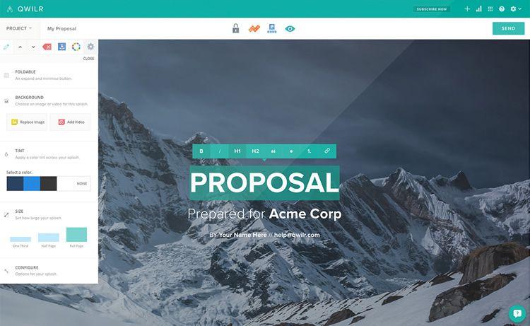 qwilr proposal hero image