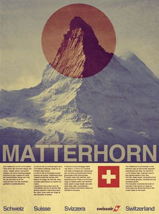 Vintage Style Swissair Travel Poster