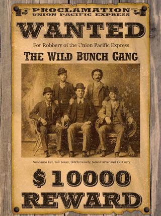 Wild Western Wanted Poster