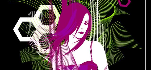 Cool Vector Girl with Wavy Scanlines Photoshop Tutorials