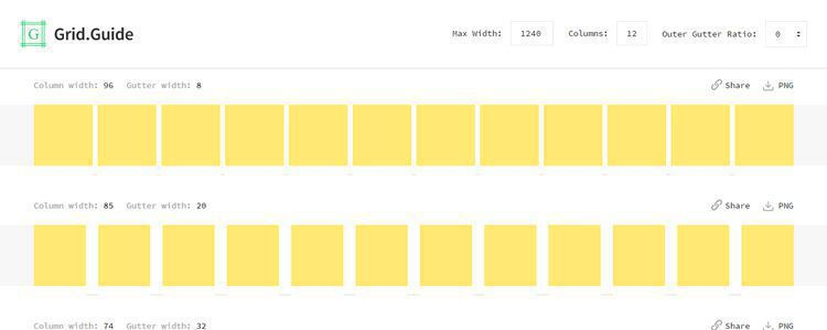 grid guide tool to help you create pixel perfect grids within your designs