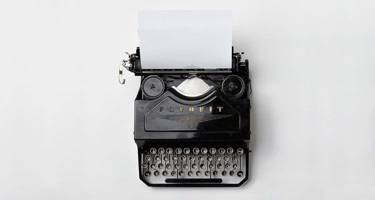 story telling typewriter vintage