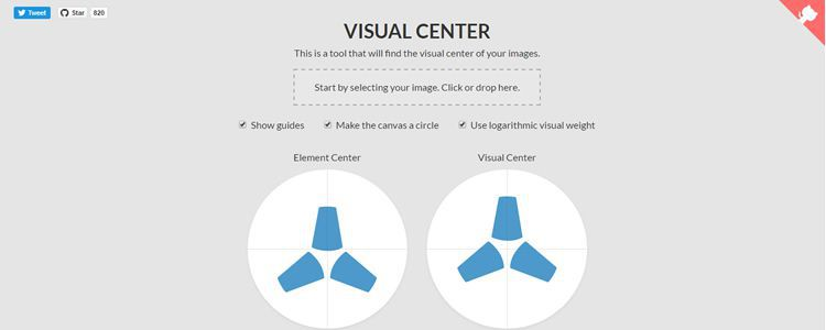 Visual Center tool find visual center images