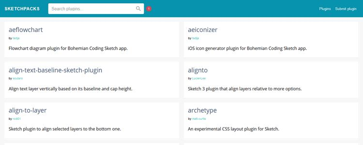 Sketchpacks new Sketch app plugin registry directory