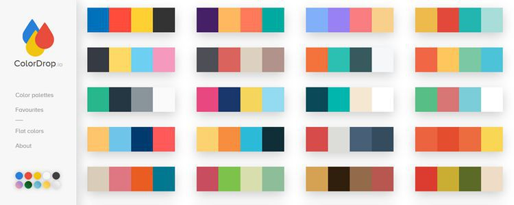 ColorDrop curated collection of amazing color combinations