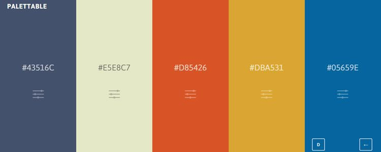 Palettable web-based app generating beautiful color palettes