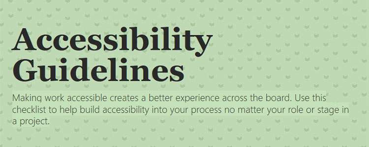 Vox Product Accessibility Guidelines