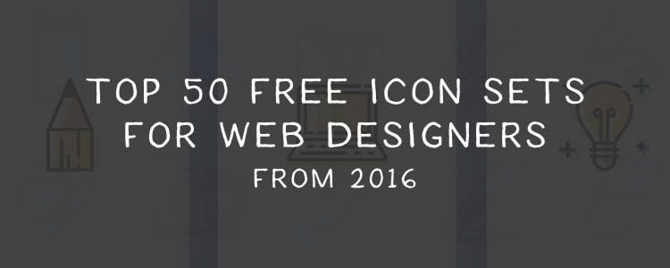 Top 50 Free Icon Sets for Web Designers from 2016