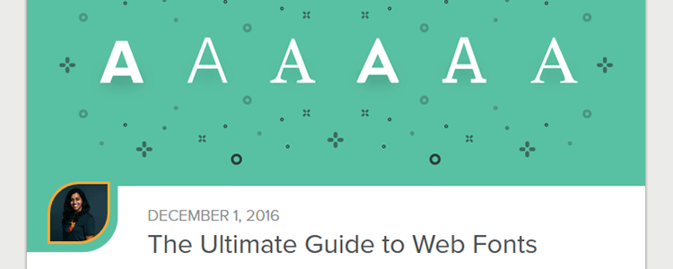 The Ultimate Guide to Web Fonts