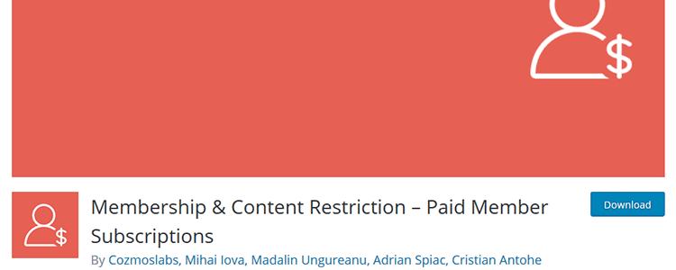 Membership & Content Restriction - Paid Member Subscriptions wordpreess plugin free