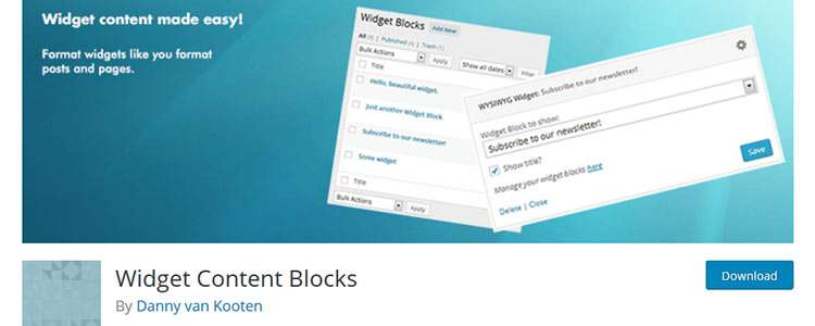 Widget Content Blocks