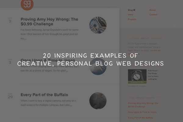 20 Inspiring and Creative Personal Blog Web Designs