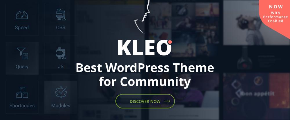 KLEO - Pro Toplum Odaklı Çok Amaçlı BuddyPress Tema