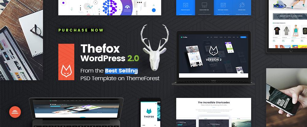 TheFox Duyarlı Çok Amaçlı WordPress Tema