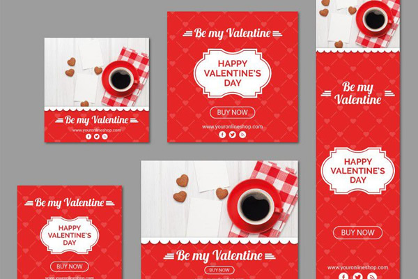 Freebie: A Valentine's Day Vector Banner Kit (AI & EPS)