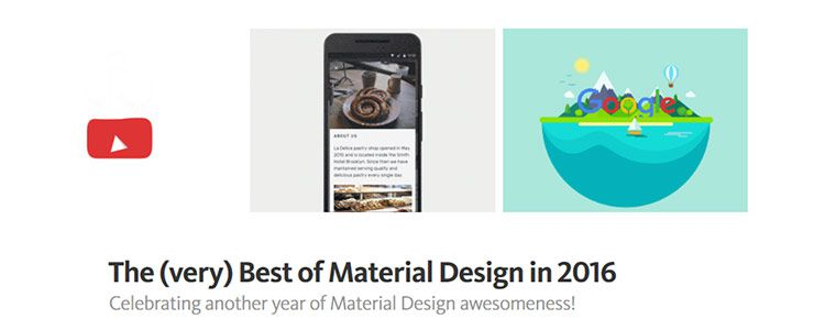 The (very) Best of Material Design in 2016