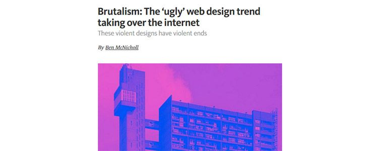 Brutalism: The 'ugly' web design trend taking over the internet