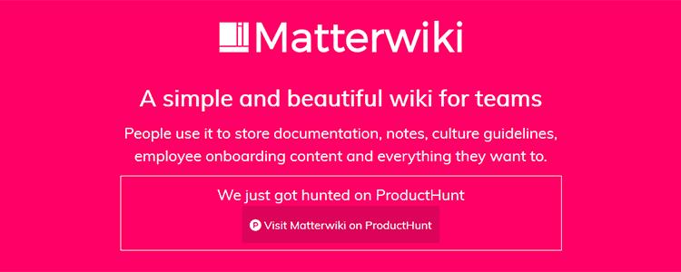 Matterwiki