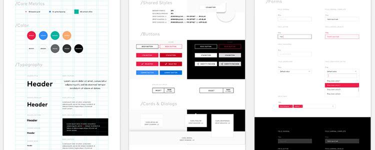 8pt Material Design GUI Templates