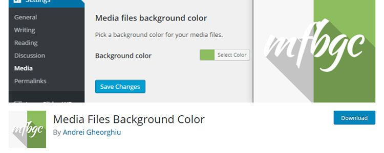 Media Files Background Color