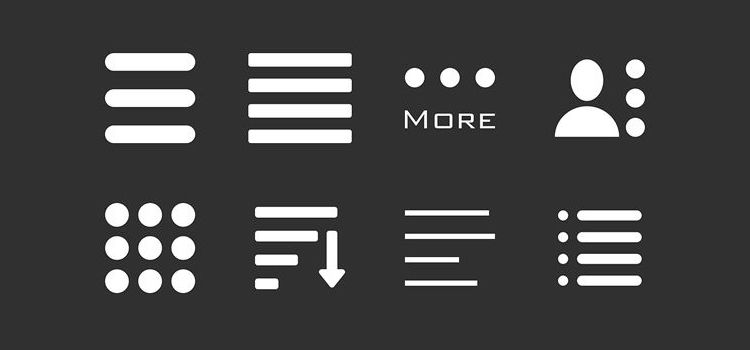 hamburger menu icons