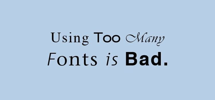 good font bad font